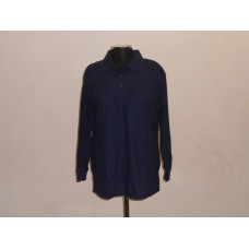 190g Long Sleeve Golf Shirt Navy