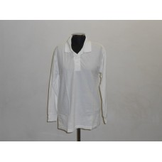 190g Long Sleeve Golf Shirt White
