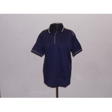 Double Mercerised Golf Shirt Navy