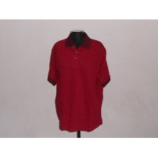 Jacquard Collar Golf Shirt Maroon