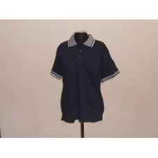 Jacquard Collar Golf Shirt Navy