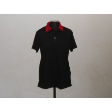 Polyester Golf Shirt Black/Red