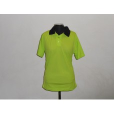 Polyester Golf Shirt Lime/Black