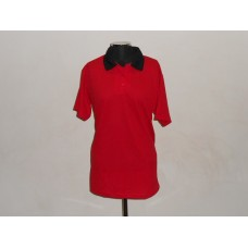 Polyester Golf Shirt Red/Black