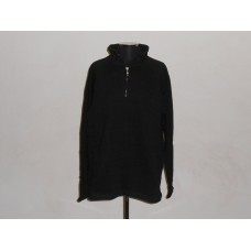 1/4 Zip Sweat Top Black