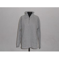 1/4 Zip Sweat Top Melange Grey