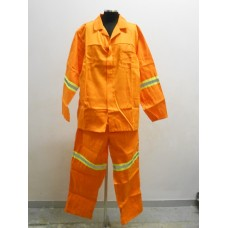 2 Piece Conti Suit with Reflectors Orange