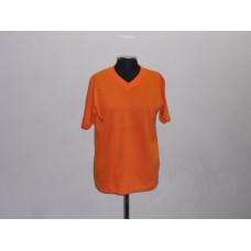 155g V-Neck T-Shirt Orange