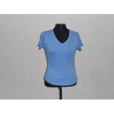 Ladies V-Neck T-Shirt Sky