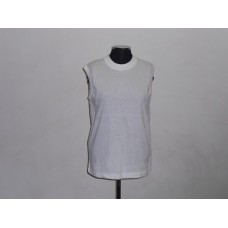 165g Sleeveless T-Shirt White